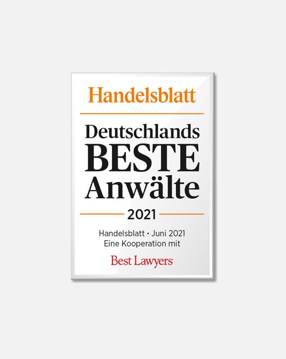 Deutschlands Beste Anwälte 2021